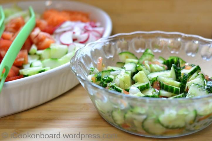 Eugene's Cucumber Salad Photo by Nino Almendra