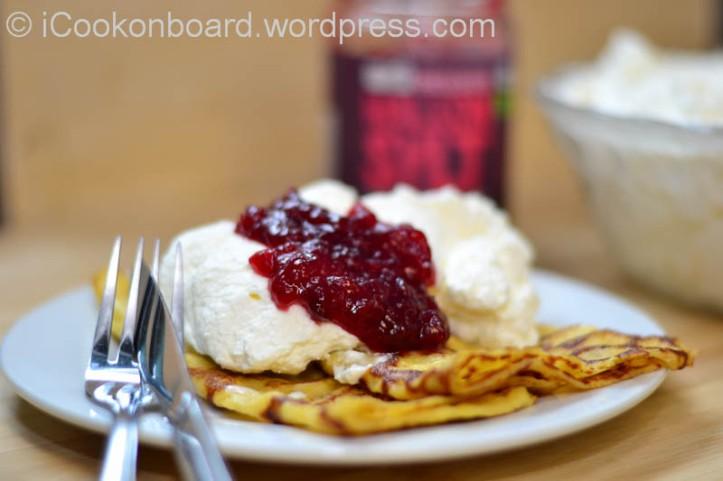 Swedish Pancake with Whipped Cream & Raspberry jam