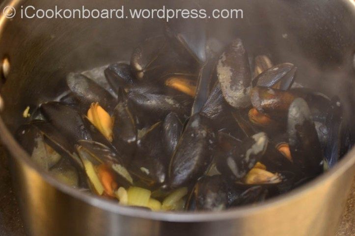 Green mussels will be opened by this time.