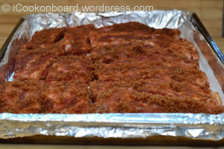 Return it to baking tray.  Wish you dont forget to heat-up the frying table and pre-heat the oven as well.