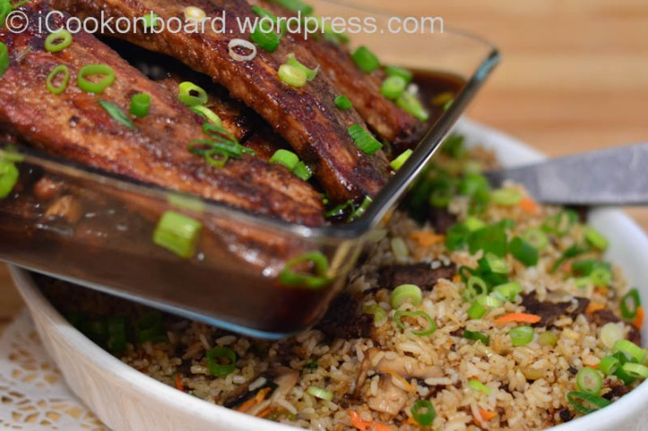 Avicii's Roasted Pork Ribs will go just nice with Beef Tapa Fried Rice. Photo by Nino Almendra