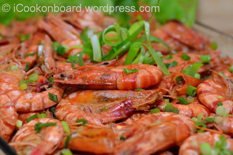 how to cook garlic prawns in the shell