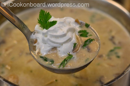 Fresh and Creamy Mushroom Soup  Photo by Nino Almendra