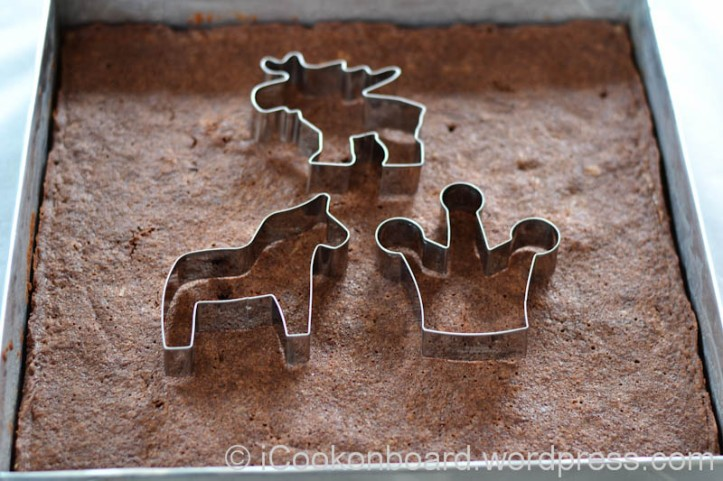 But since its Christmas, we should make a little more effort for our guest. I use a cookie cutter that I bought from Nynäshamn, Sweden.