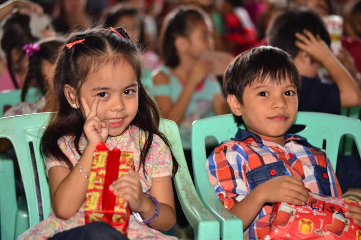 Jerico with his classmate Avril. Photo by Nino Almendra
