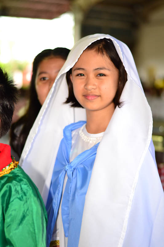 "Agata "" A consistent 1st honor student and very active school activities. She is playing Mama Mary, mother of baby Jesus of Nazareth. Photo by Nino Almendra"