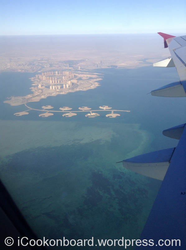 Just above Doha, Qatar.