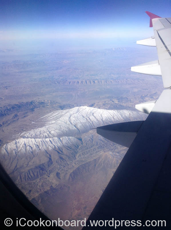 "I was surprised to see ""Snow Cap Mountain"" on Iranian desert."