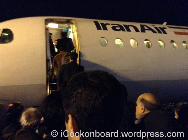 Boarding a Fokker-100 Tehran-Busher  flight.
