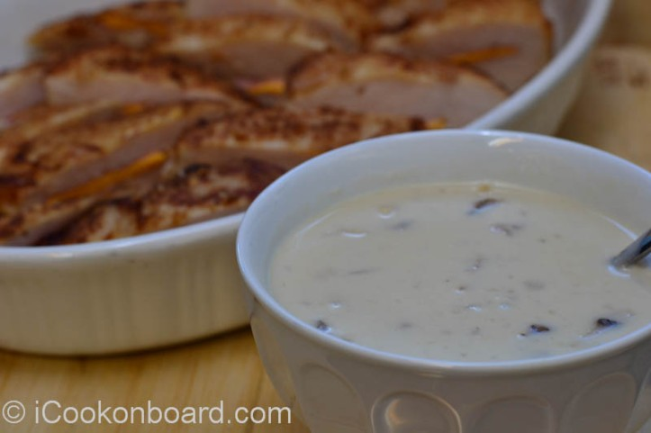 Lemon Mushroom Sauce/Gravy, a great compliment for Chicken Cordon Bleu.
