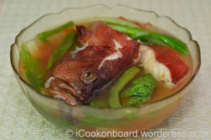 Sinigang sa Kamatis na Lapu-Lapu. Enjoy your meal!!! ;) Photo by Nino Almendra