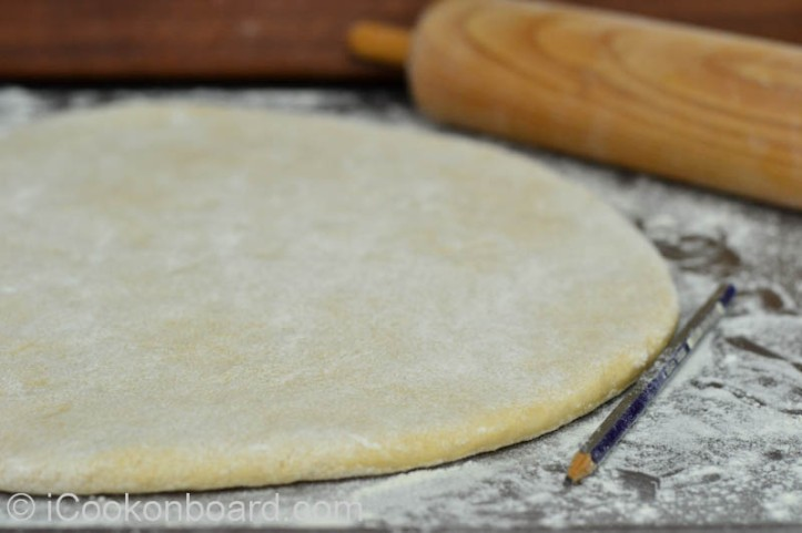 Roll dough to 1/2 inch thickness {or slightly thicker than a pencil/pen}.