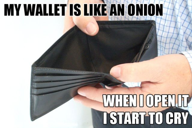 Wallet likes an onion