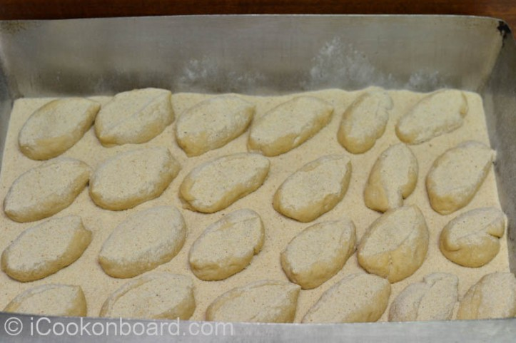 Add more bread crumbs to cover all Pandesal dough.