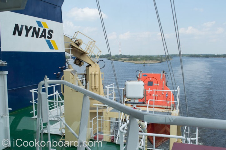 Nynas Vessel M.T. Ardea {View from bridge poop deck.} Photo by Nino Almendra