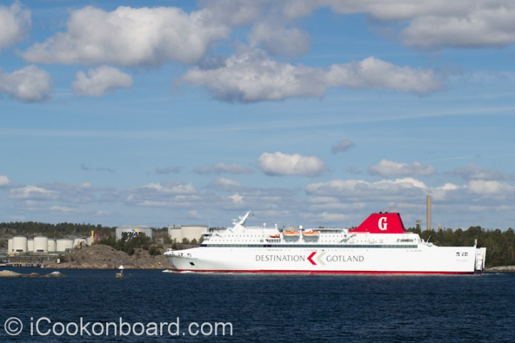 Passenger Ship Arriving at Nynäshamn, Sweden. Photo by Nino Almendra