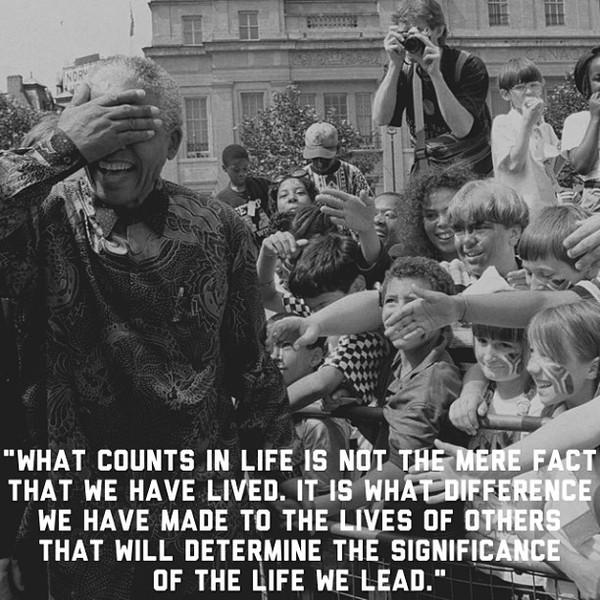 Mandela Quotes Life we Lead