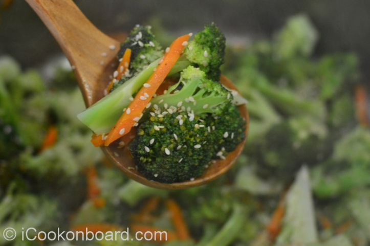 Brocolli and Carrots Stir Fry Photo by Nino Almendra