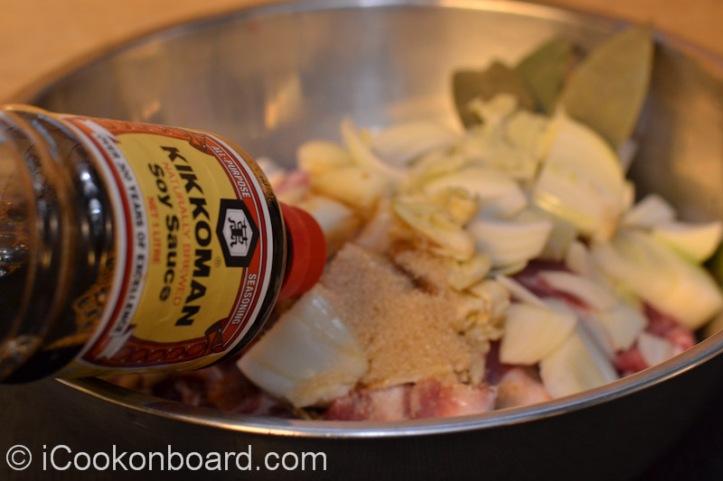 and Kikoman soya sauce.