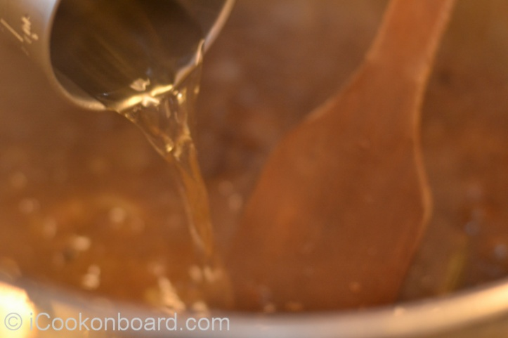 ... and vinegar. Bring to a boil then simmer on medium heat will cover crack open for 5 minutes.