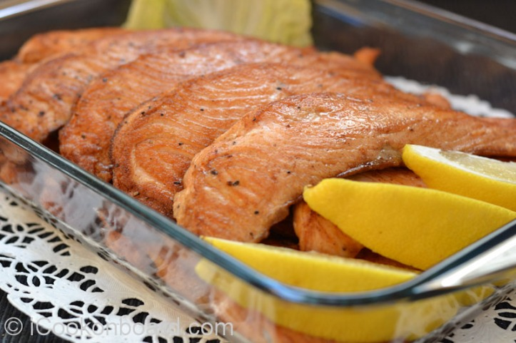 Pan Fried Salmon Fillet Photo by Nino Almendra