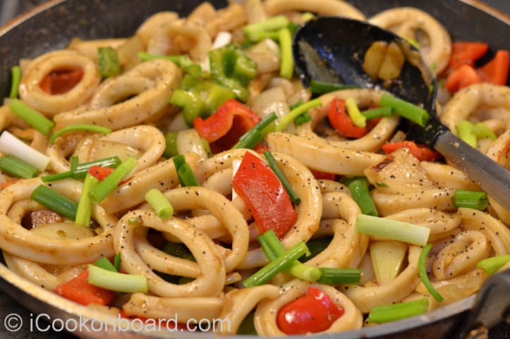 Calamares Stir Fry Serve and Enjoy your meal !!! =)