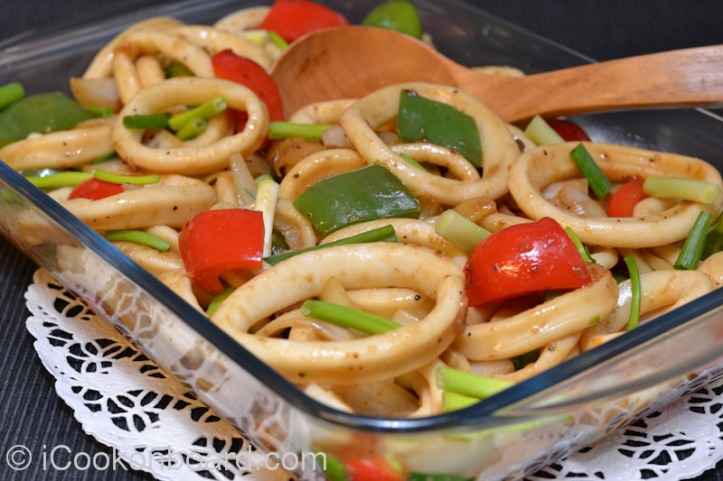 Calamares Stir Fry Photo by Nino Almendra