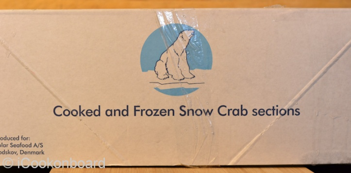 A box of Frozen Snow Crabs from Greenland