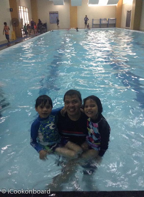 Enjoying an afternoon swim with my swimming buddies.  Again this is FREE! Fortunately, I'm a member of AMOSUP.