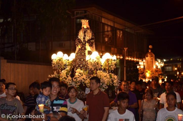 The Good Friday procession at Binan City, Laguna.