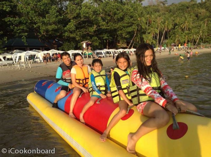Our first Banana Boat ride. We really did enjoy the Ride!