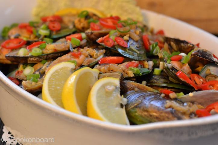 Adobong Tahong (Frozen Green Mussels)