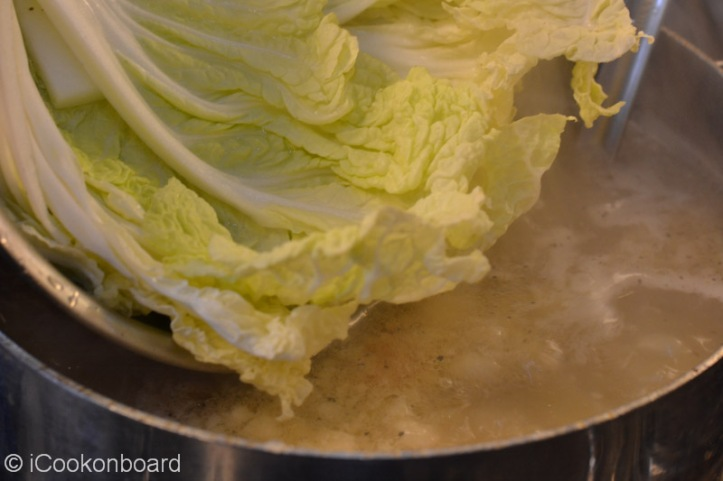 Add the chinese cabbage...