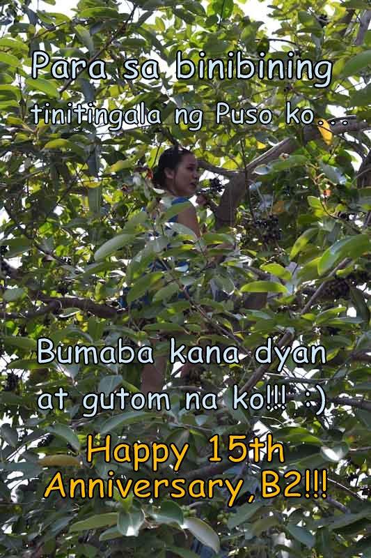Happy 15th Anniversary Mahal ko