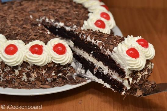 "Black Forest Cake ""iCookonboard turns 3, Yay!!!"" | iCookonboard"