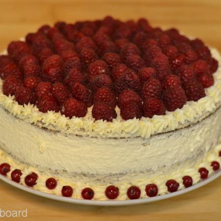 Choco Raspberry Victory Cake