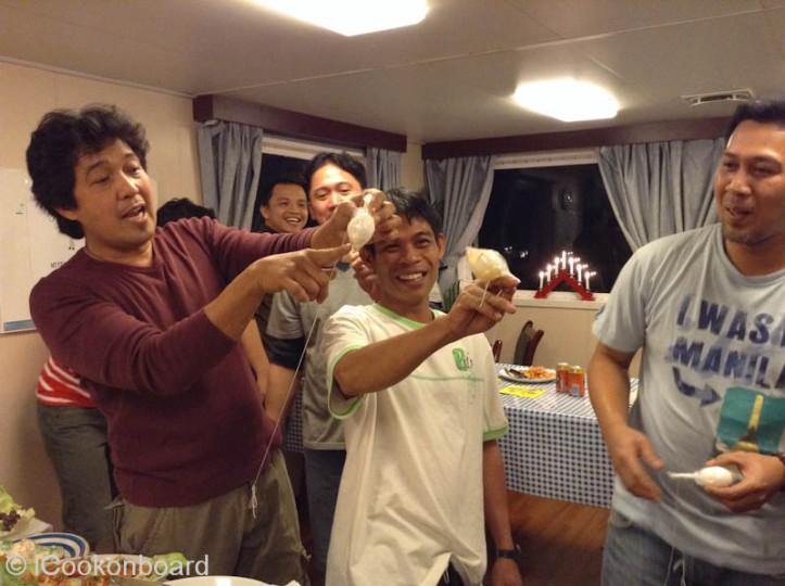 Christmas Onboard Mergus 2014