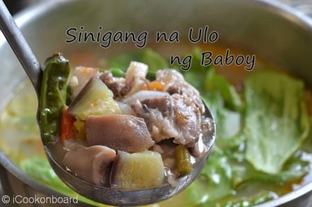 Sinigang na Ulo ng Baboy