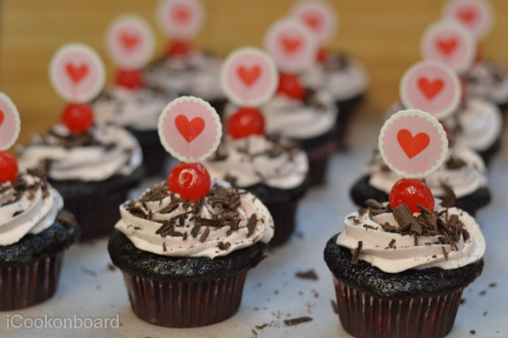Cupid's Red Forest Cupcakes