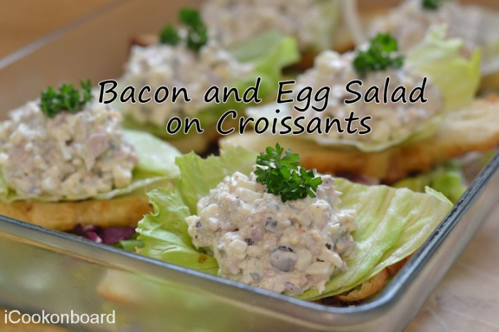 Bacon and Egg Salad on Croissants