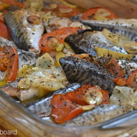 Baked Atlantic Mackerel