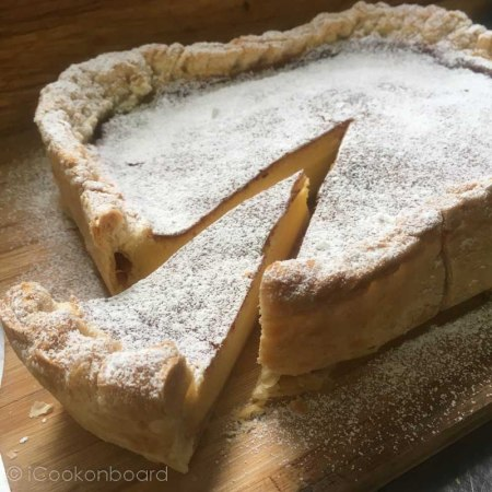 Egg Pie using Puff Pastry