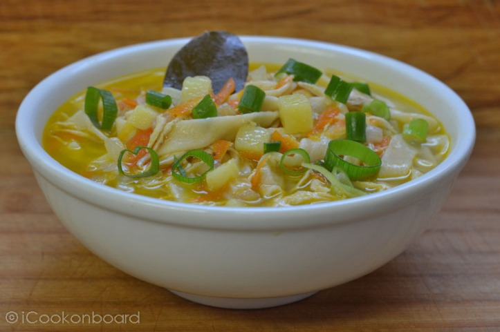 Russian Chicken Noodles Soup